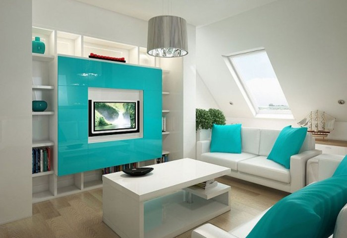 turquoise-attic-family-and-media-room-idea-for-comfy-look-700x480
